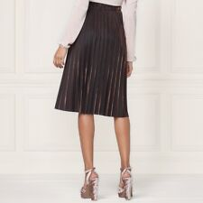 Lauren Conrad Skirt Size L Red Gold Accordian Style Pleated Sparkle