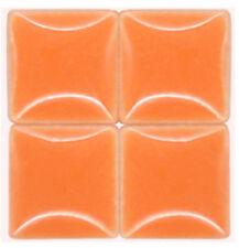 Mosaic Tiles - Salmon Orange - Ceramic - 3/8 inch - 50 Tiles - Art Supplies