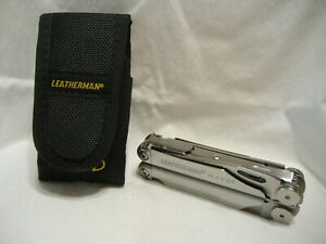 Leatherman Wave Multi Tool With Nylon Case Very Nice Condition