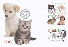 Finland 2012 FDC Booklet - Pets Cat Dog Rabbit Jack Russel puppies - Sep 3, 2012