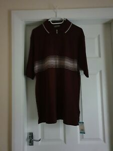 """Shirt """"Marks&Spencer""""Golf Deep Red Colour Size: M (UK),Eur M New With Tags"""