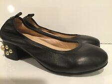 Yosi Samra Black Pumps Heels Gold Heels Womens Size 7