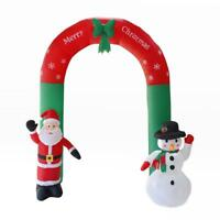 Christmas Santa & Snowman 2.4M Inflatable Giant Arch Jingle Doll Way Decoration