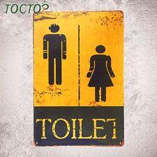 """ Toilet "" Metal Tin sign Vintage Plate Garage Pub Bar Restaurant Coffee Decor"