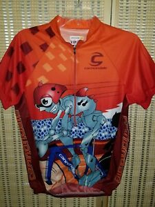 Cannondale Cycling Jersey, Orange Shirt, Size Men's Small, Bicycling, FREE SHIP!