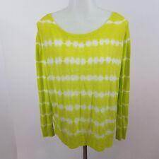 Joie sweater Emari Tie Dye Sweater Acid Lime Porcelain l/s green white S $268