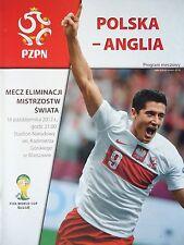 Programm LS 16.10.2012 Polen Polska - England
