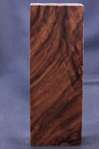 CLEAR Stabilized Walnut Burl Wood Block Knife Scales Handles 2496