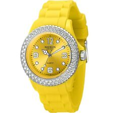 Madison New York Damenuhr JUICY GLAMOUR Gelb, veredelt mit SWAROVSKI® ELEMENTS