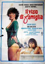 manifesto movie poster 2F Il vizio di famiglia Mariano Laurenti montagnani  eros