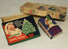 More details for rare 1940s vintage glittering xmas frost - sparkling christmas jack frost + box