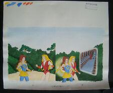 "She-Ra ""Crystal Castle"" Story Book MOTU Pg 4 & 5 Original Artwork 1986"