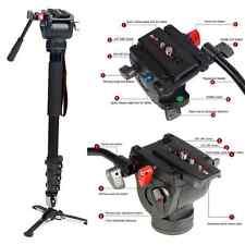 Professional Heavy Duty Fluid Monopod Head kit video cameras Camcorder 72 inth