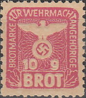 Stamp Germany Revenue WW2 3rd Reich War Bread 10G Wehrmacht MNG