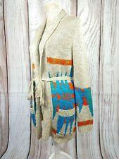Top da donna NUOVA L DONNA MAGLIONE una taglia 10-16 coatagan Cardigan Cappotto Inverno Argento