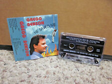 GREGG BENSON He Saved Me Just In Time rare 1996 Christian cassette tape Florida