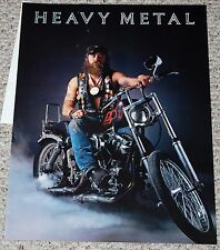 HEAVY METAL Biker Guy Motorcycle Poster 1978 Chopper Garage Shop Workshop