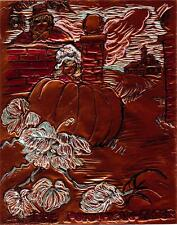 """""""THE PUMPKIN EATER""""by Ruth Freeman ETCHED COPPER FOIL 8"""" X 10"""""""