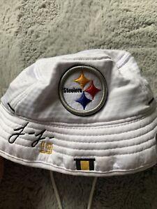 New Era NFL-Youth 100 Anniversary Pittsburgh Steelers Bucket Hat 19 Juju White
