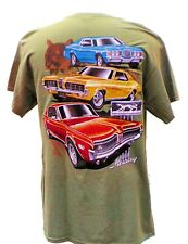 MERCURY COUGAR LIGHT GREEN 3 CAR, 2 SIDED T SHIRT BRAND NEW