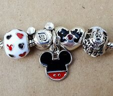 Disney Parks Chef Mickey Kiss Minnie Hearts D60 Mouse European Beads Charms Set