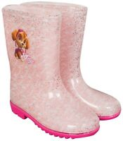 Official Paw Patrol Wellies Wellington Rain Boots Kids Girls Pink Skye Size 6-12