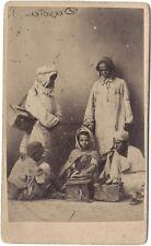 Cireurs de chaussures Afrique du nord CdvVintage albumine c 1865