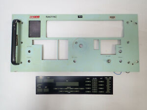 RACAL RA6778C HF RADIO RECEIVER FRONT PLATE AND DISPLAY LENS PARTS FOR REPAIRS