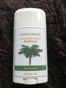 All Natural Organic VEGAN Deodorant Unscented - WORKS! (with Shea Butter)