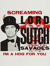 "Screaming Lord Sutch  16"" x 12"" Photo Repro Promo Im A Hog Poster"