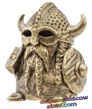 Bronze Solid Brass IronWork Thimble Warrior Viking with a Hammer