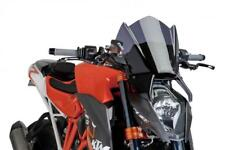 PUIG Dark Smoke/Tint Screen/Windshield KTM 1290 SUPERDUKE R 2014-2016 (7014F)