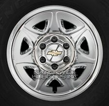 "4 2014-2018 Chevy Silverado 1500 17"" Chrome Wheel Skins Hub Caps Full Rim Covers"