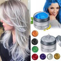 120g Natural Unsiex Diy Hair Color Mud Cream Temporary Hair Clay Wax Dye Paint