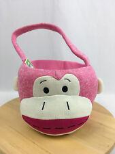 Dan Dee Plush Sock Monkey Gift Basket Valentines DayTote Baby Gift pink  NWOT