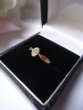 .25ct Rare Oval Diamond Solitaire 18K Engagement Ring Bezel Setting Nearly New