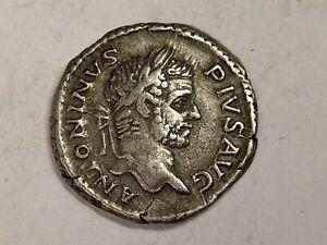 ROMAN COIN SILVER DENARIUS OF CARACALLA, DECENT GRADE NOV