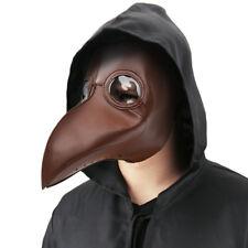 Plague Doctor Mask Bird Beak Steampunk Punk Gothic Halloween Cosplay Masks Brown