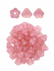 16 Baby Bell Flower Czech Glass Beads 6MM Beautiful Color Selection