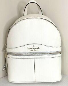 New Kate Spade Karina Medium Backpack Pebble Leather Parchment