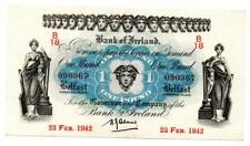 More details for ireland, bank of ireland one pound / £1 note 23 february 1942 issued 2nd w w