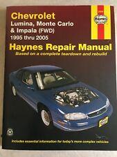 Haynes Repair Car Manual 24048 Chevrolet Lumina Monte Carlo Impala 1995-2005