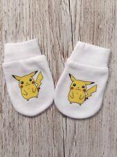 Pokemon 'pikachu'Inspired Baby Scratch Mitts/mittens
