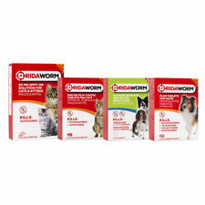 More details for ridaworm cat dog wormer multi worming tablets treatments kill roundworm tapeworm