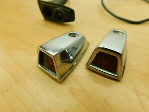 FENDER INDICATORS PAIR - CHROME MARKERS - 1973-1979 MOPAR RD20-1F2