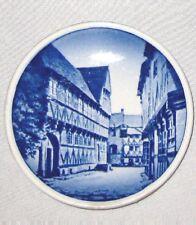 """White Blue 3 1/4"""" Royal Copenhagen Denmark Coaster Plate Den Gamle Aarhus"""