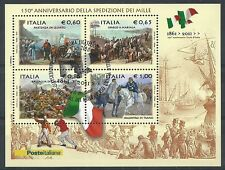 2010 ITALIA 150° ANN. SPEDIZIONE DEI MILLE ANNULLO FDC