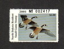 ND20 North Dakota State Duck Stamp. MNH. 2001.  Single