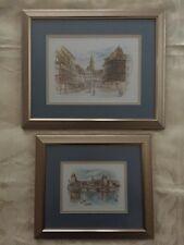 """Bernadette Voz framed prints of """"Strasbourg"""" & """"Strasbourg Maison Kammerzell"""""""
