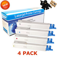 4 PK Color toner Cartridge set for Okidata C3300 C3300N C3400 C3400N C3450